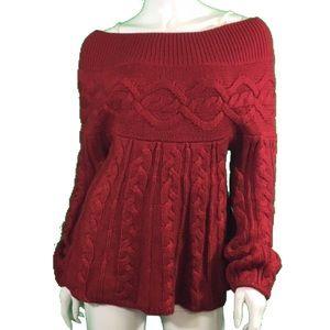 EUC Moda Red Boatneck Sweater (1127)